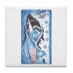 Bride of Frankie Tattoo Tile Coaster