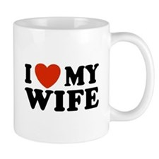 I Love My Wife Small Mugs