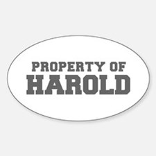PROPERTY OF HAROLD-Fre gray 600 Decal