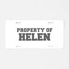 PROPERTY OF HELEN-Fre gray 600 Aluminum License Pl