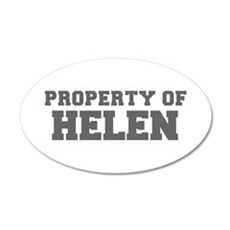 PROPERTY OF HELEN-Fre gray 600 Wall Decal