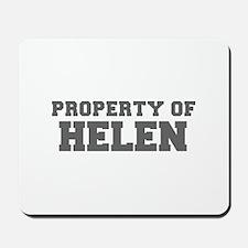 PROPERTY OF HELEN-Fre gray 600 Mousepad
