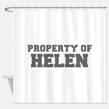 PROPERTY OF HELEN-Fre gray 600 Shower Curtain