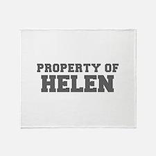PROPERTY OF HELEN-Fre gray 600 Throw Blanket