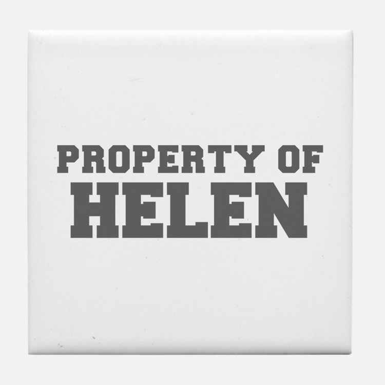PROPERTY OF HELEN-Fre gray 600 Tile Coaster