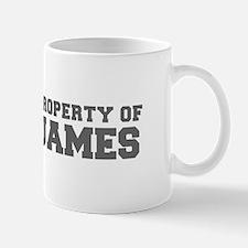 PROPERTY OF JAMES-Fre gray 600 Mugs