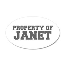 PROPERTY OF JANET-Fre gray 600 Wall Decal