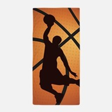 Basketball dunk Beach Towel