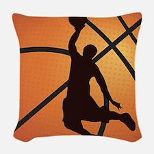 Basketball dunk Woven Throw Pillow