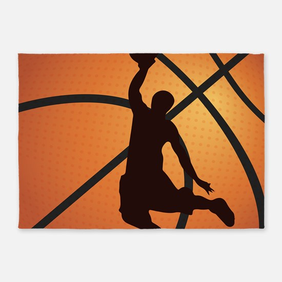 Basketball dunk 5'x7'Area Rug