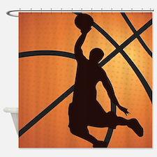 Basketball dunk Shower Curtain