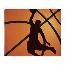 Basketball dunk Throw Blanket