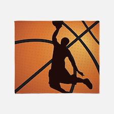 Basketball dunk Throw Blanket