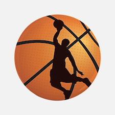 """Basketball dunk 3.5"""" Button (100 pack)"""