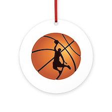 Basketball dunk Ornament (Round)