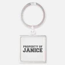 PROPERTY OF JANICE-Fre gray 600 Keychains