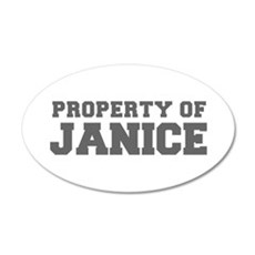 PROPERTY OF JANICE-Fre gray 600 Wall Decal