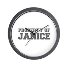 PROPERTY OF JANICE-Fre gray 600 Wall Clock