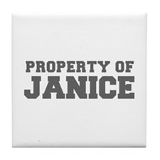 PROPERTY OF JANICE-Fre gray 600 Tile Coaster