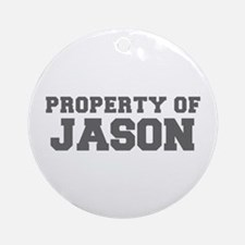 PROPERTY OF JASON-Fre gray 600 Ornament (Round)