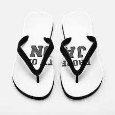 PROPERTY OF JASON-Fre gray 600 Flip Flops