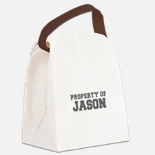 PROPERTY OF JASON-Fre gray 600 Canvas Lunch Bag