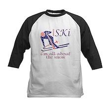 United States Ski Snow Fun Design Baseball Jersey