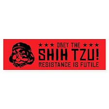 Chairman Shih Tzu - Bumper Car Sticker