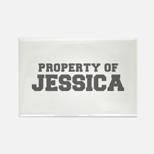 PROPERTY OF JESSICA-Fre gray 600 Magnets