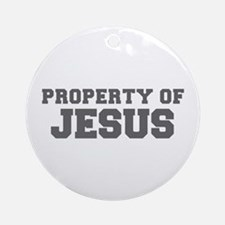 PROPERTY OF JESUS-Fre gray 600 Ornament (Round)