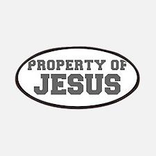 PROPERTY OF JESUS-Fre gray 600 Patch