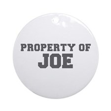 PROPERTY OF JOE-Fre gray 600 Ornament (Round)