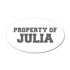PROPERTY OF JULIA-Fre gray 600 Wall Decal