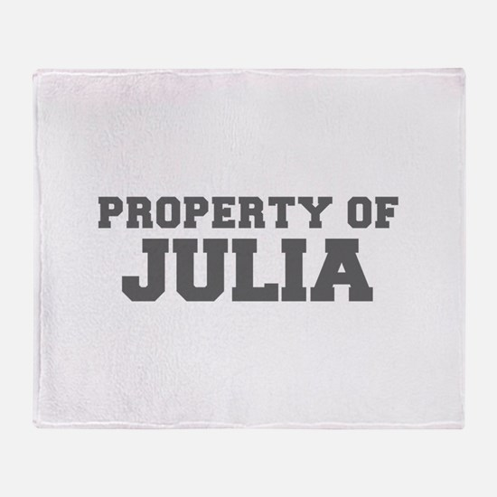 PROPERTY OF JULIA-Fre gray 600 Throw Blanket
