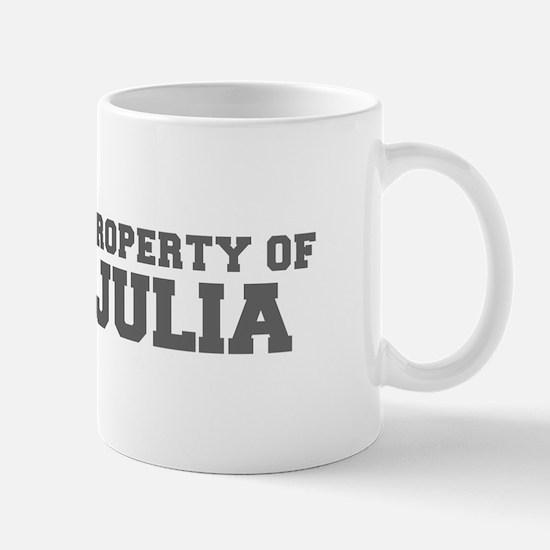 PROPERTY OF JULIA-Fre gray 600 Mugs