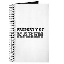 PROPERTY OF KAREN-Fre gray 600 Journal