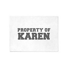 PROPERTY OF KAREN-Fre gray 600 5'x7'Area Rug