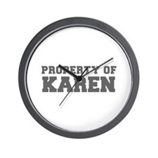 PROPERTY OF KAREN-Fre gray 600 Wall Clock
