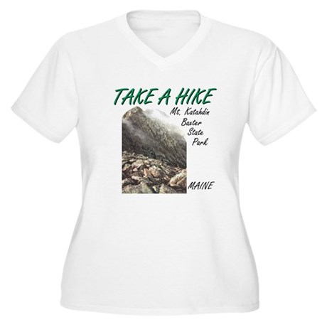 Katahdin Women's Plus Size V-Neck T-Shirt