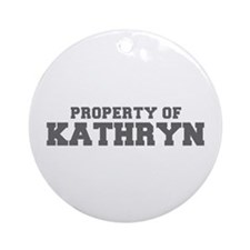 PROPERTY OF KATHRYN-Fre gray 600 Ornament (Round)