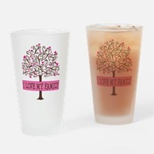 I Love My Family (tree) Drinking Glass