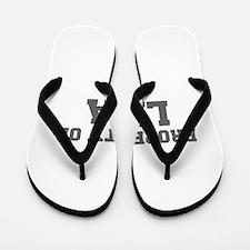 PROPERTY OF LISA-Fre gray 600 Flip Flops