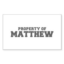 PROPERTY OF MATTHEW-Fre gray 600 Decal