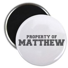 PROPERTY OF MATTHEW-Fre gray 600 Magnets
