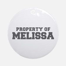 PROPERTY OF MELISSA-Fre gray 600 Ornament (Round)