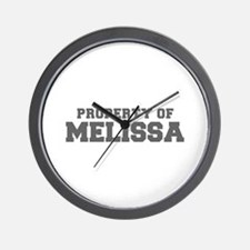 PROPERTY OF MELISSA-Fre gray 600 Wall Clock
