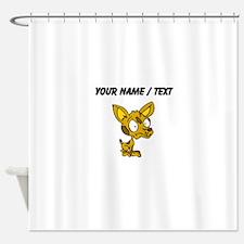 Custom Cartoon Chihuahua Shower Curtain