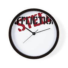 steel affliction Wall Clock