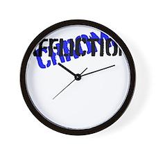 chrome affliction Wall Clock