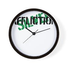 silver affliction Wall Clock